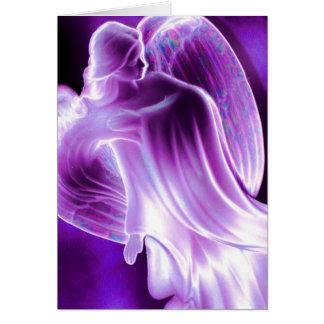 Het majestueuze Paarse Wenskaart van de Engel