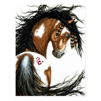 Het majestueuze Pinto Paard van de Verf door Briefkaart