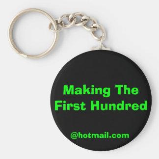 Het maken van Eerste Honderd Sleutelhanger