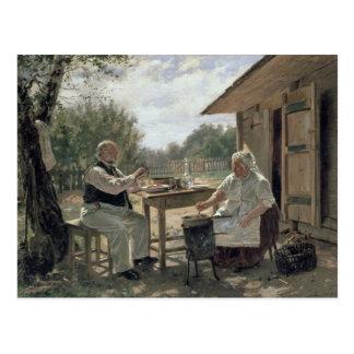 Het maken van Jam, 1876 Briefkaart