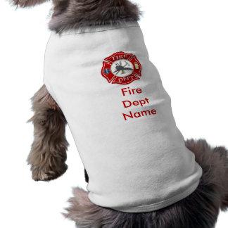 Het Maltese DwarsOverhemd Doggie van de brandbestr T-shirt