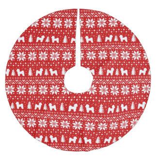 Het Maltese Rood van het Patroon van Kerstmis van Kerstboom Rok