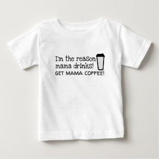 het mamma drink koffie baby t shirts
