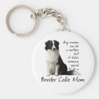 Het Mamma Keychain van border collie Sleutelhanger