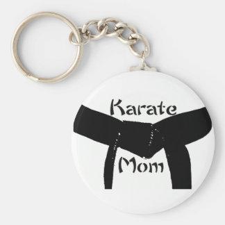 Het Mamma Keychain van de Karate van het Zwarte Sleutelhanger