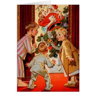 Het mamma kust de Kerstman Wenskaart