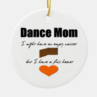 Het Mamma van de dans - Lege Harten, Volledige Rond Keramisch Ornament