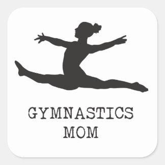 Het Mamma van de gymnastiek Vierkante Sticker