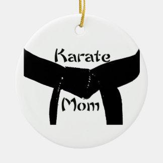 Het Mamma van de Karate van het Zwarte band van Rond Keramisch Ornament