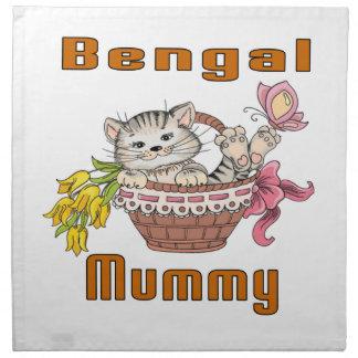 Het Mamma van de Kat van Bengalen Servet