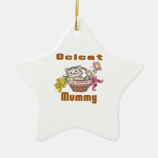 Het Mamma van de Kat van Ocicat Keramisch Ster Ornament