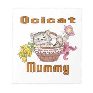 Het Mamma van de Kat van Ocicat Notitieblok