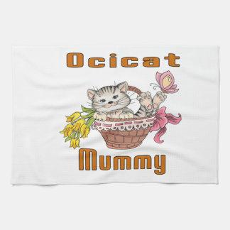 Het Mamma van de Kat van Ocicat Theedoek