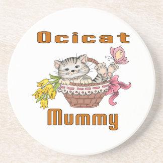 Het Mamma van de Kat van Ocicat Zandsteen Onderzetter