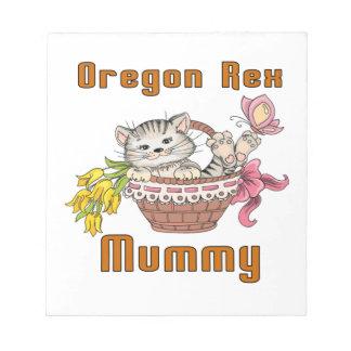 Het Mamma van de Kat van Oregon Rex Notitieblok