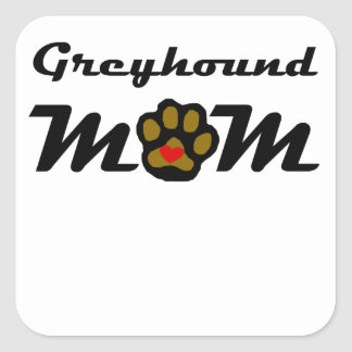 Het Mamma van de windhond Vierkant Stickers