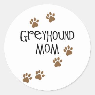 Het Mamma van de windhond Ronde Stickers