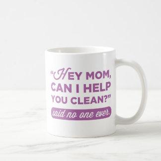 Het Mamma van Hey, kan ik u schoonmaken helpen? Koffiemok