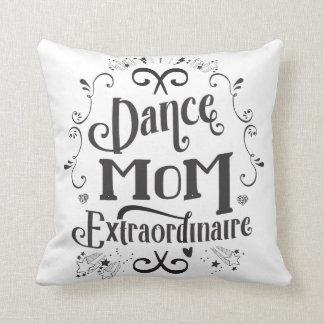 Het Mamma Zwart-witte Extraordinaire van de dans - Sierkussen