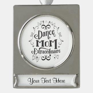 Het Mamma Zwart-witte Extraordinaire van de dans - Verzilverd Banner Ornament
