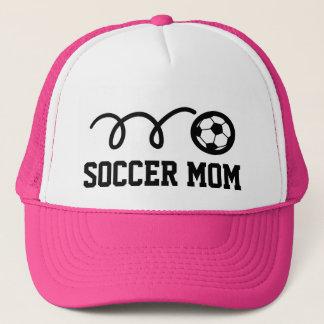 Het mammapetten van het voetbal trucker pet