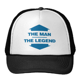 Het man de Legende - Blauw Petten Met Netje