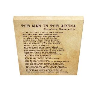 Het man in de Wijnoogst van Theodore Roosevelt van Canvas Afdrukken
