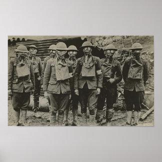 Het man in Gasmasker WWI drukt Poster