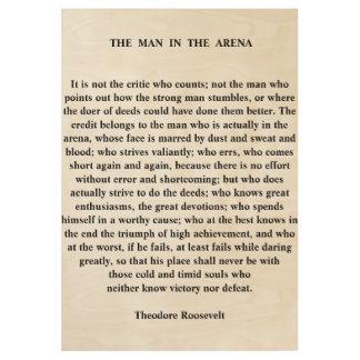 Het man in het Citaat van de Arena door Theodore Houten Poster