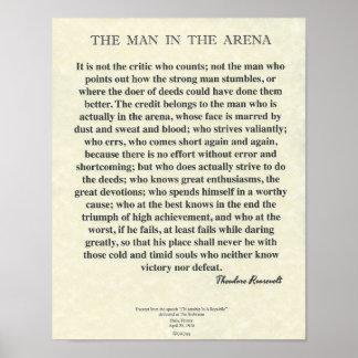 Het man in het Citaat van de Arena door Theodore Poster