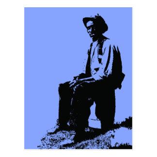 Het Man van blauw Briefkaart