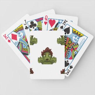 het man van de emojizombie poker kaarten
