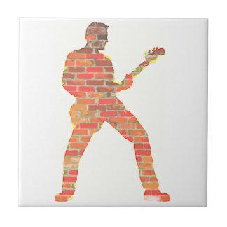 Het Man van de gitaar Keramisch Tegeltje