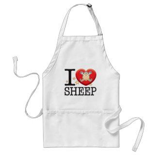 Het Man van de Liefde van schapen Standaard Schort