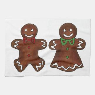 Het Man van de peperkoek Dame Christmas Cookies Theedoeken