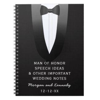 Het Man van de smoking van het Dagboek van de Ringband Notitieboek