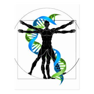Het Man van DNA Vitruvian Briefkaart