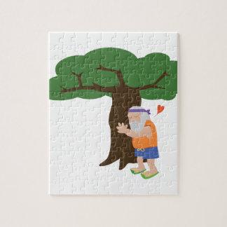 Het Man van Hugger van de boom Puzzel