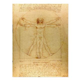 Het Man van Leonardo da Vinci Vitruvian Briefkaart