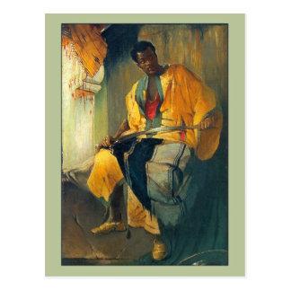 Het Man van Nubian door Franciszek Zmurko Briefkaart