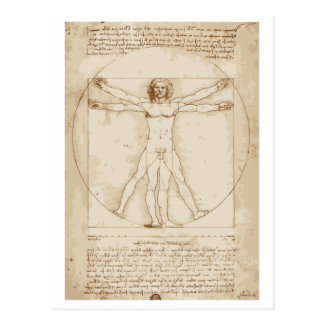 Het Man van Vitruvian Briefkaart
