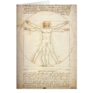 Het Man van Vitruvian Kaart