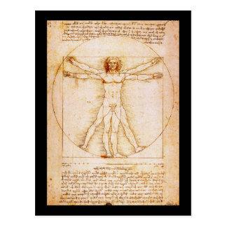 Het Man van Vitruvian - Leonardo da Vinci Briefkaart