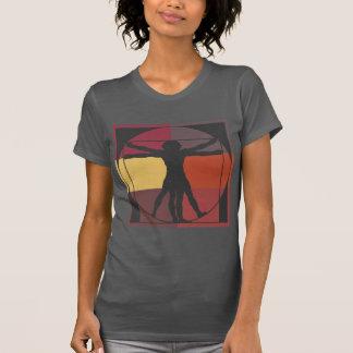 Het Man van Vitruvian van het Blok van de kleur T Shirt