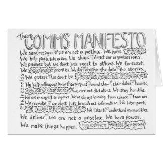 Het manifest Comms Briefkaarten 0