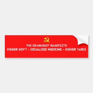 Het Manifest van Obamunist Bumpersticker