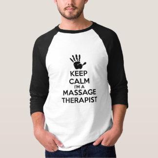 Het mannen houdt Kalm ik ben een Therapeut van de T Shirt