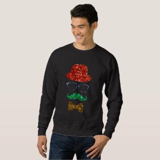 het mannen sweatshirt van de Kerstmis hipster snor
