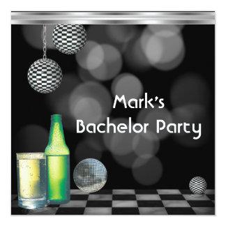 Het Mannen van de Partij van de vrijgezel drink 13,3x13,3 Vierkante Uitnodiging Kaart