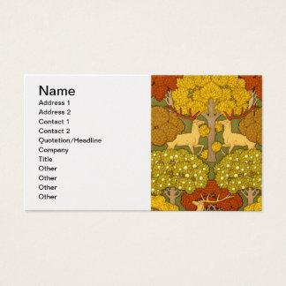 Het Mannetje en de Bomen van Deco Nouveau Visitekaartjes
